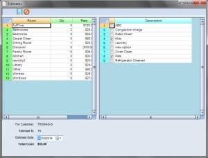 Scheduling Manager's job estimator business software screenshot
