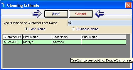 Search in Job Estimator
