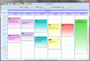 scheduling calendar in service business software