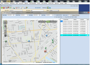 Mapping features in service business software
