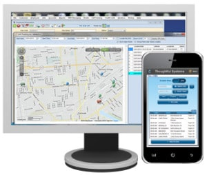 GPS routing in service business software
